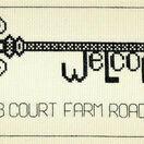 Vintage Welcome Key Cross Stitch Kit additional 1