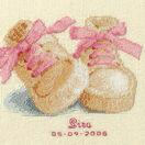 Baby Boots Birth Sampler Cross Stitch Kit additional 2