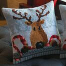 Reindeer With Red Scarf Cross Stitch Cushion Kit additional 2