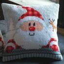 Santa With Plaid Hat Cross Stitch Cushion Kit additional 2