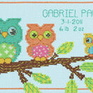 Mini Owl Birth Record Cross Stitch Kit additional 1