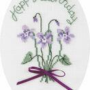 Violets Cross Stitch Card Kit additional 1