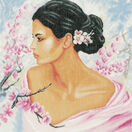 Lady With Blossoms Cross Stitch Kit additional 1