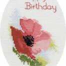 Poppy Greetings Card Cross Stitch Kit additional 1