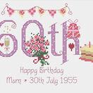 60th Birthday Cross Stitch Kit additional 5