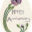 Mackintosh Rose Anniversary Cross Stitch Card Kit additional 1