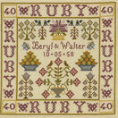 Ruby Anniversary Sampler Cross Stitch Kit additional 1
