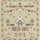 Christening Sampler Cross Stitch Kit additional 1