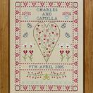 Swag & Heart Wedding Sampler Cross Stitch Kit additional 2