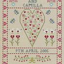 Swag & Heart Wedding Sampler Cross Stitch Kit additional 1