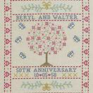 Folk Anniversary Sampler Cross Stitch Kit additional 1