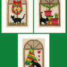 Christmas Atmosphere Cat Themed Cross Stitch Card Kits (Set of 3) additional 1