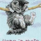 Hang on Kitty Cross Stitch Kit additional 1