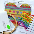 Beginners Heart - Learn How To Cross Stitch Complete Tutorial Kit additional 3