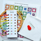Beginners Squares - Learn How To Cross Stitch Complete Tutorial Kit additional 3