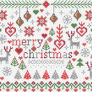 Little Merry Christmas Cross Stitch Kit additional 1