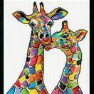 Colourful Giraffes Cross Stitch Kit additional 1