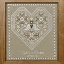 Love Birds Wedding Sampler Cross Stitch Kit additional 2