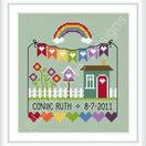 Rainbow Birth Sampler Cross Stitch Kit additional 2