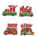 Holiday Truck Ornaments Set Cross Stitch Kit additional 1