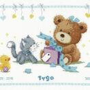 Bear & Present Birth Sampler Cross Stitch Kit additional 1