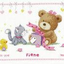 Bear & Present Birth Sampler Cross Stitch Kit additional 2