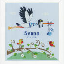 Stork Birth Sampler Cross Stitch Kit additional 2