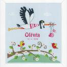 Stork Birth Sampler Cross Stitch Kit additional 1