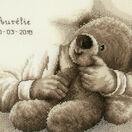 Teddy Bear Birth Sampler Cross Stitch Kit additional 1