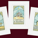 Stained Glass Christmas Cross Stitch Card Kits (Pack B) additional 1