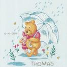 Winnie In The Rain Birth Record Disney Cross Stitch Kit additional 1