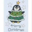 Daisy Penguin Cross Stitch Christmas Card Kit additional 1