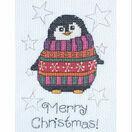 Flo Penguin Cross Stitch Christmas Card Kit additional 1