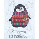 Flo Penguin Cross Stitch Christmas Card Kit additional 2