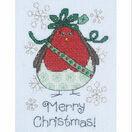 Aggie Robin Cross Stitch Christmas Card Kit additional 1