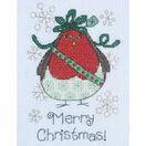 Aggie Robin Cross Stitch Christmas Card Kit additional 2