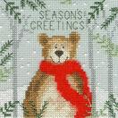 Christmas Moose, Christmas Bear and Christmas Fox Cross Stitch Christmas Card Kits (Set of 3) additional 2