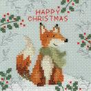 Christmas Moose, Christmas Bear and Christmas Fox Cross Stitch Christmas Card Kits (Set of 3) additional 3
