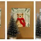 Christmas Moose, Christmas Bear and Christmas Fox Cross Stitch Christmas Card Kits (Set of 3) additional 1