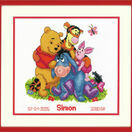 Winnie & Friends Cross Stitch Birth Record Kit additional 2