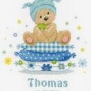 Bear On Pillow Cross Stitch Birth Record Kit additional 1