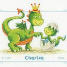Dragons Cross Stitch Birth Record Kit additional 1