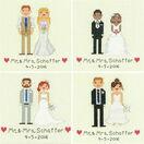 Bride & Groom Cross Stitch Wedding Sampler Kit additional 2