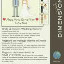 Bride & Groom Cross Stitch Wedding Sampler Kit additional 5