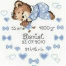 Boy Birth Announcement Cross Stitch Kit additional 1
