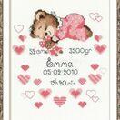 Girl Birth Announcement Cross Stitch Kit additional 2