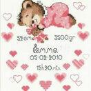Girl Birth Announcement Cross Stitch Kit additional 1