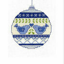 Christmas Doves Bauble Cross Stitch Christmas Card Kit additional 2