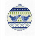 Christmas Doves Bauble Cross Stitch Christmas Card Kit additional 1