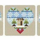 Festive Hearts Winter Cross Stitch Kit additional 3